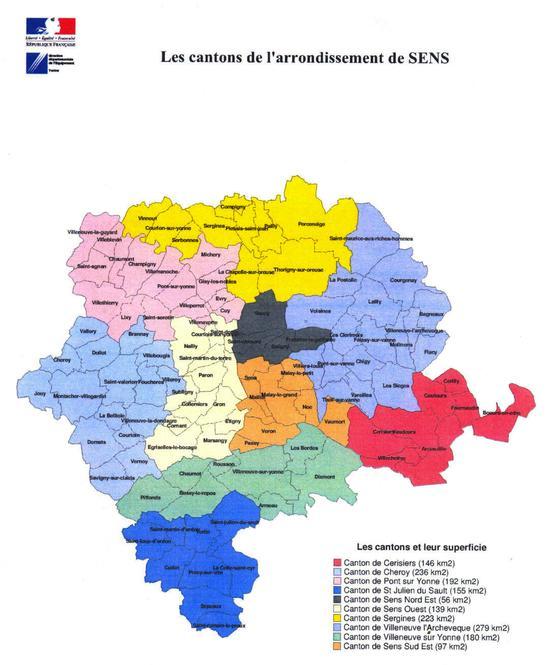 L 39 arrondissement sous pr fecture de sens pr fecture et for Plan de sens dans l yonne