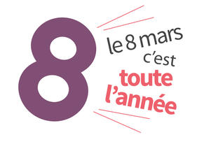 logo 8 mars journée internationale de la femme