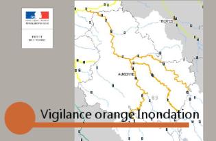 Crues :  vigilance orange pour l'Armançon, pour l'Yonne Amont et Aval et pour le Serein